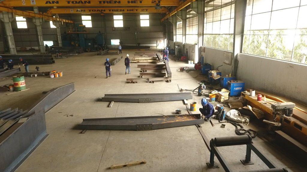 quy trình sản xuất kết cấu thép chuẩn